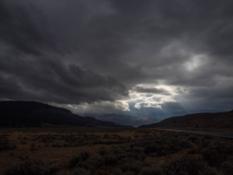 Storm clouds in the Lamar Valley