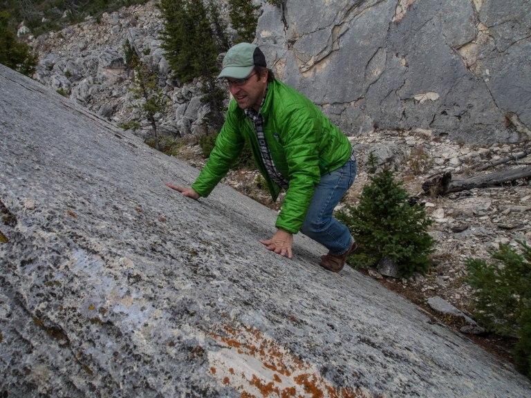 Matt bouldering