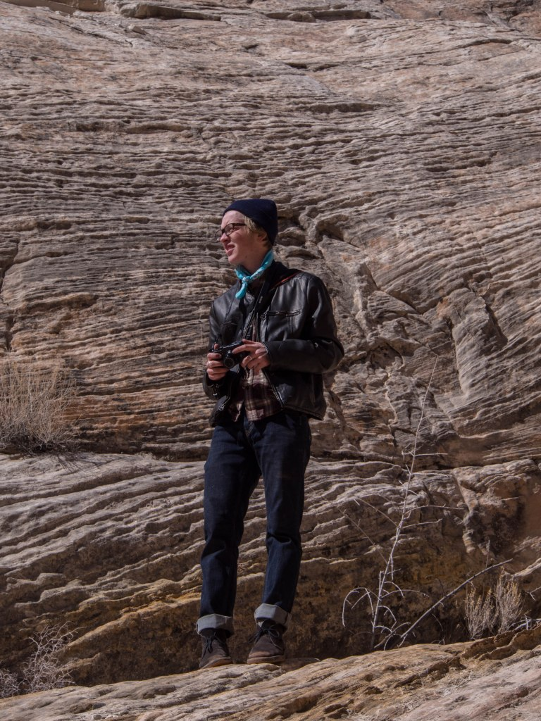 The hippest canyon hiker of the day.