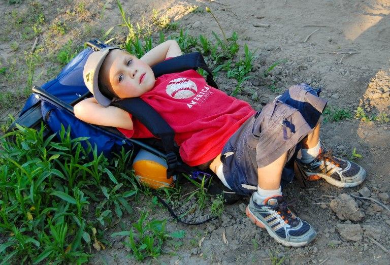 Big hike for a little boy.