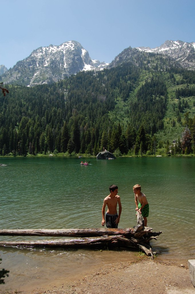 Swimming in Grand Teton National Park.