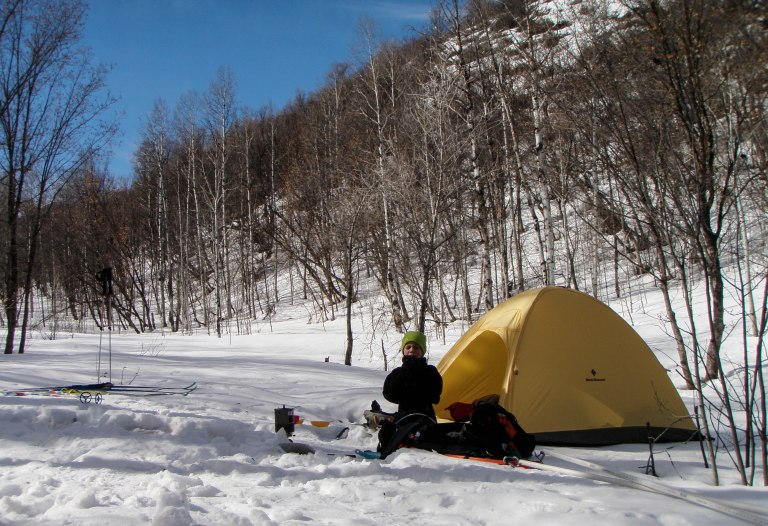 Winter camping in the Wasatch Range.