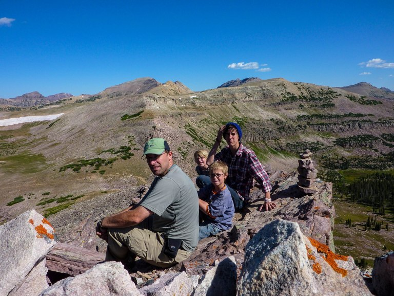 Above Rocky Sea Pass in the Uinta Range.