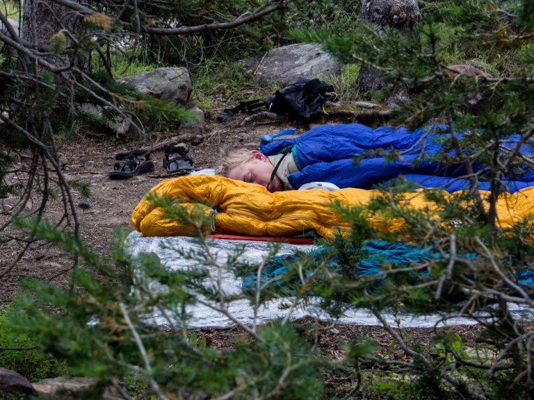 Sleeping in the wild.