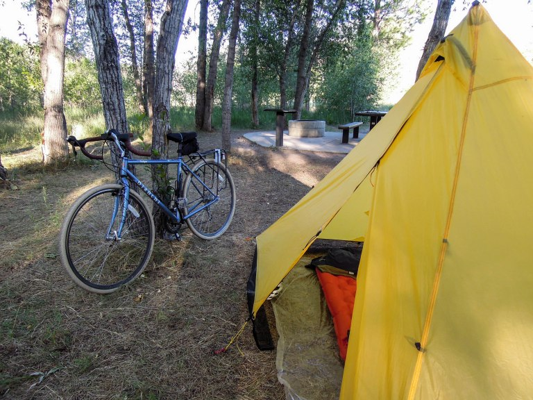 Camp in Diamond Fork Canyon
