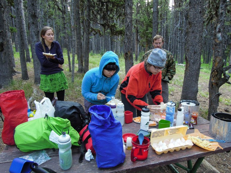 Breakfast at Canyon Campground