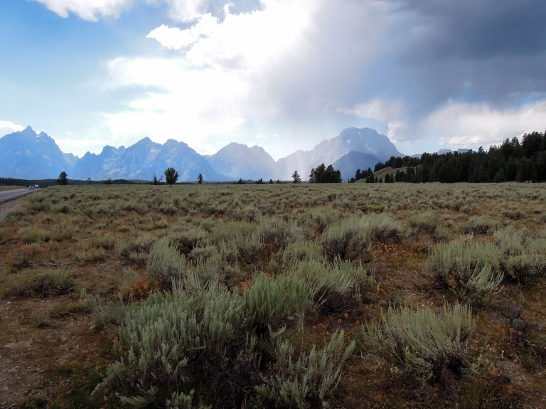No foothills on the east side of the Tetons, just sagebrush flats then towering mountains