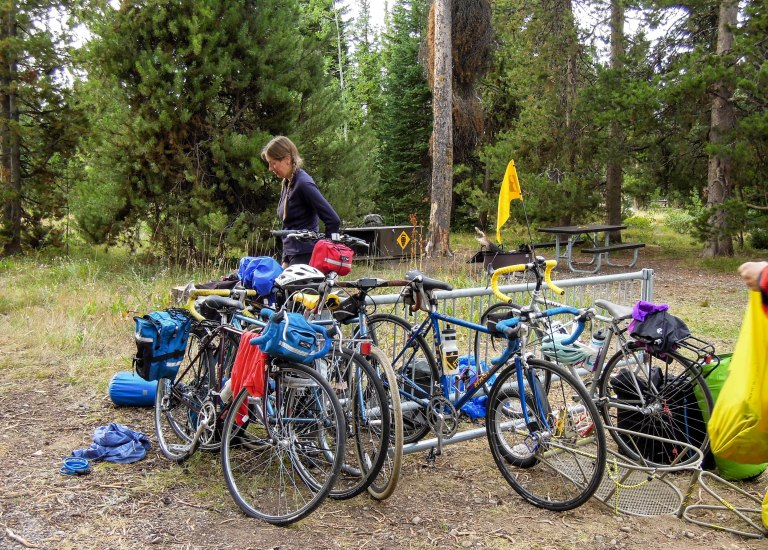 Even a bike rack at the campground
