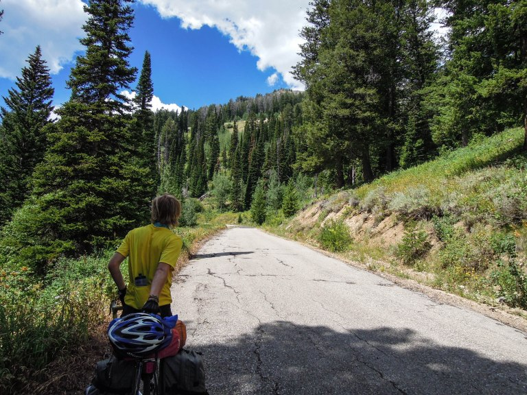 Climbing Teton Pass with 13% grades
