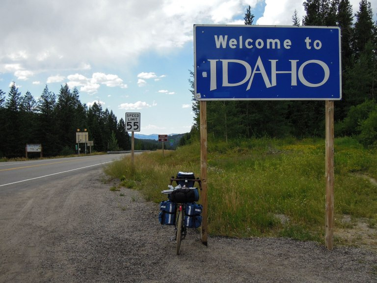 Entering Idaho