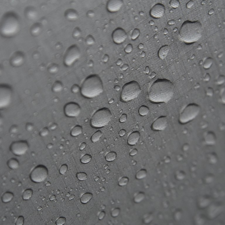 Water droplets on the tent wall