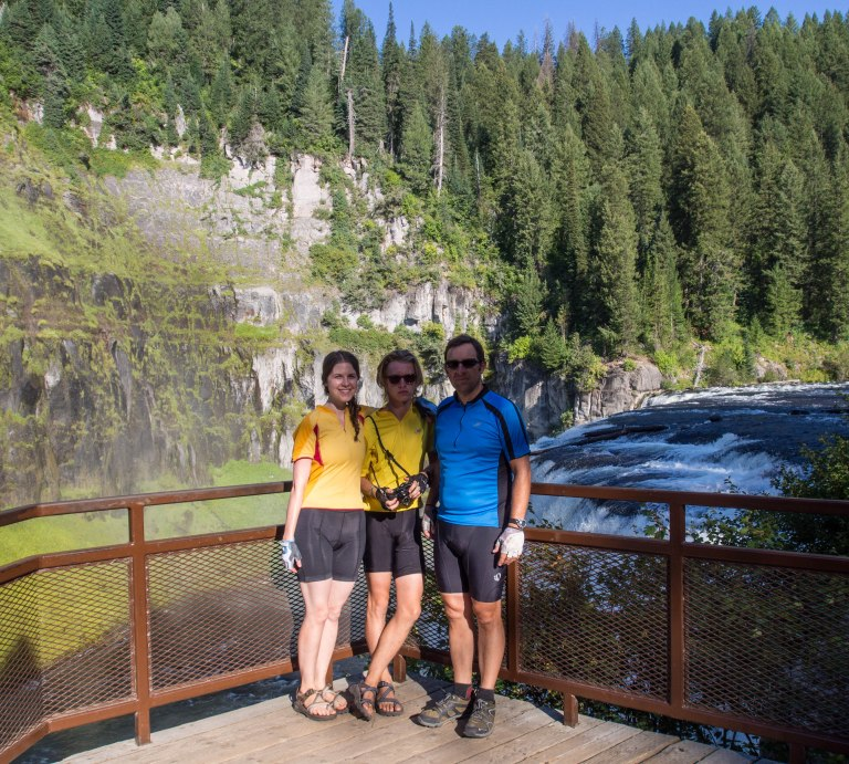 Me, Natalie, and Finn at Upper Mesa Falls