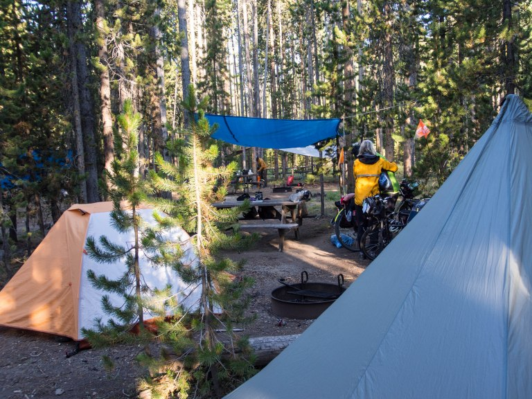 Madison Campground; the hiker/biker area
