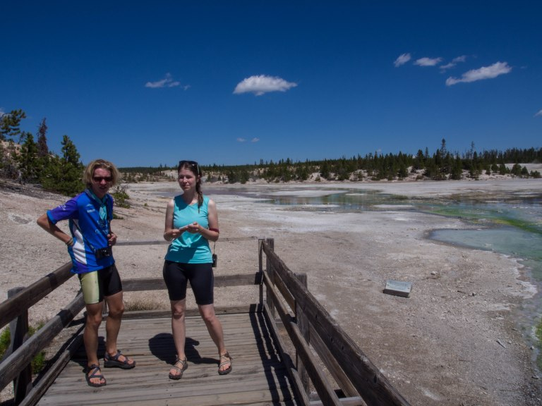 Finn and Natalie at the Porcelain Geyser Area