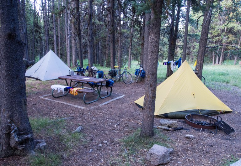 Our camp at Canyon Campground, adjacent to Canyon Village