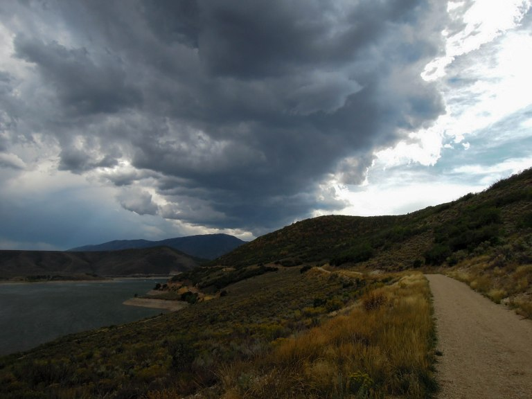 A nice trail on the west side of Deer Creek Reservoir