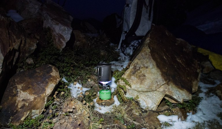 The tiny Snow Peak Gigapower stove.