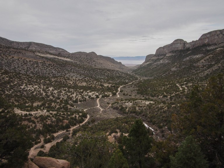 And the view down Miller Canyon