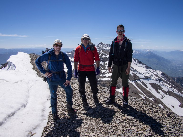 On the summit of the North Peak of Timpanogos.