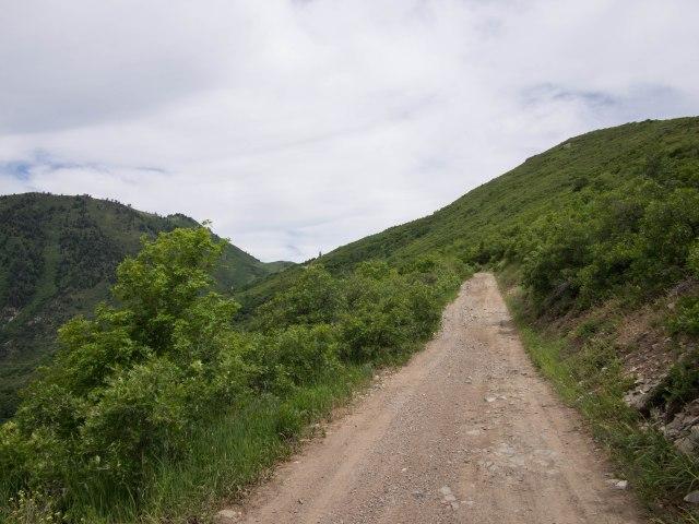 Heading up toward the saddle, Camel Pass.