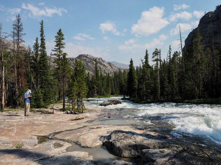 The raging Dinwoody Creek.