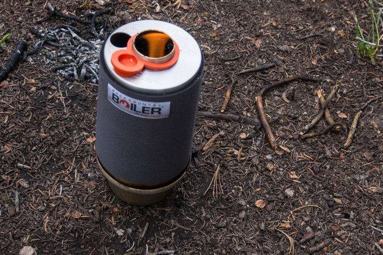 The Backcountry Boiler is a chimney style wood burning  stove. It is good if all you are doing is boiling water.
