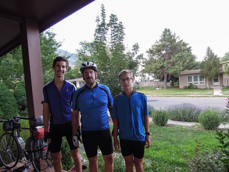 Team Blue, ready to leave the house on the 4th annual bike tour.
