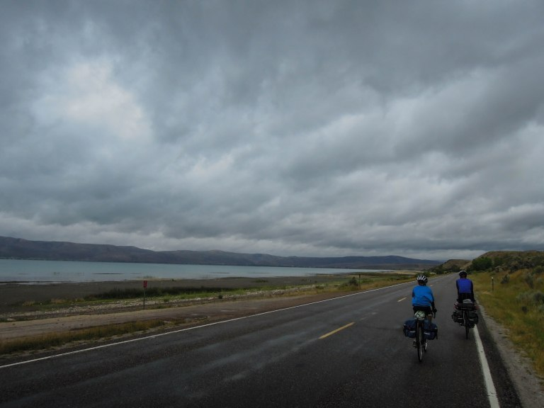 Riding along Bear Lake in northeast Utah.