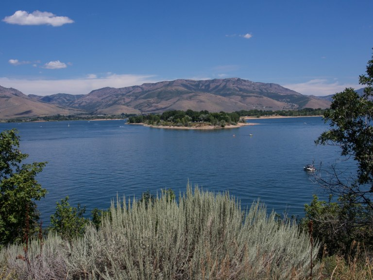 Pineview Reservoir.