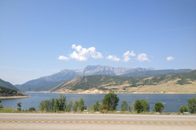 The backside of Mt. Timpanogos from Deer Creek Reservoir