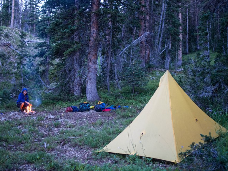 Camping along the Middle Fork of the Weber River.
