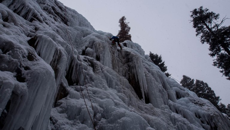Lars, after surmounting a steep vertical section.
