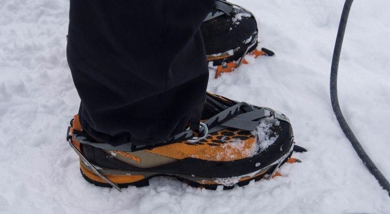 Ice climbing boots.