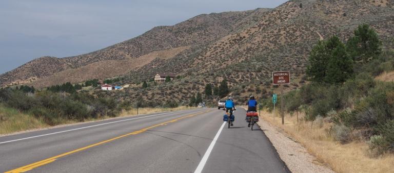 Heading toward the mountains.