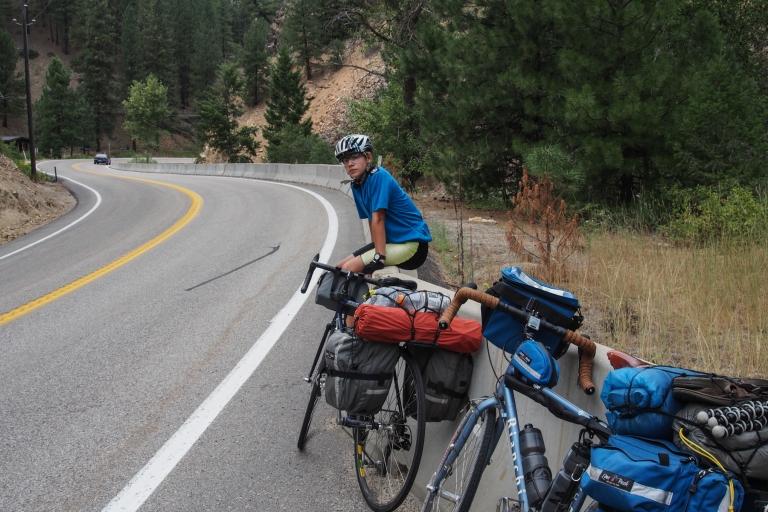Taking a break along Highway 21 headed toward Idaho City.