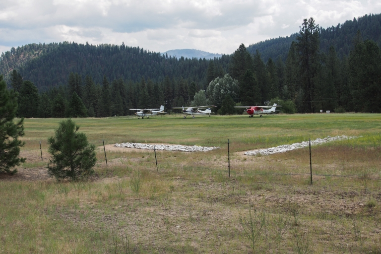 Forest Service airstrip and planes.