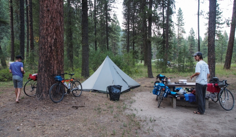 Tie Fork Campground, along the Middle Fork of the Payette River.