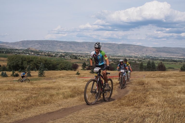 Lars in his first high school mountain bike race at Soldier Hollow