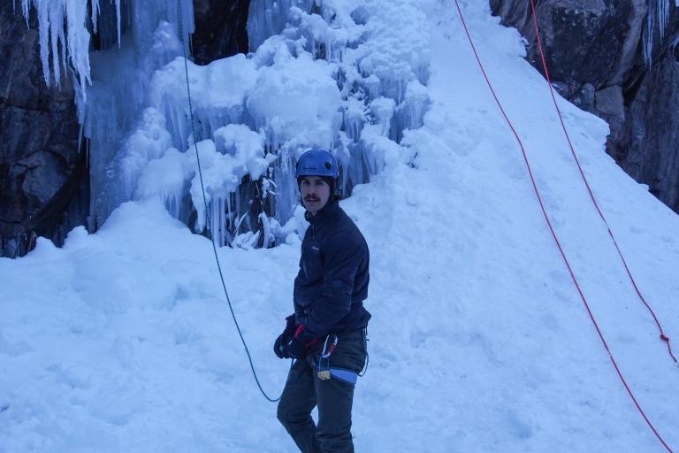 Niels getting ready to climb.