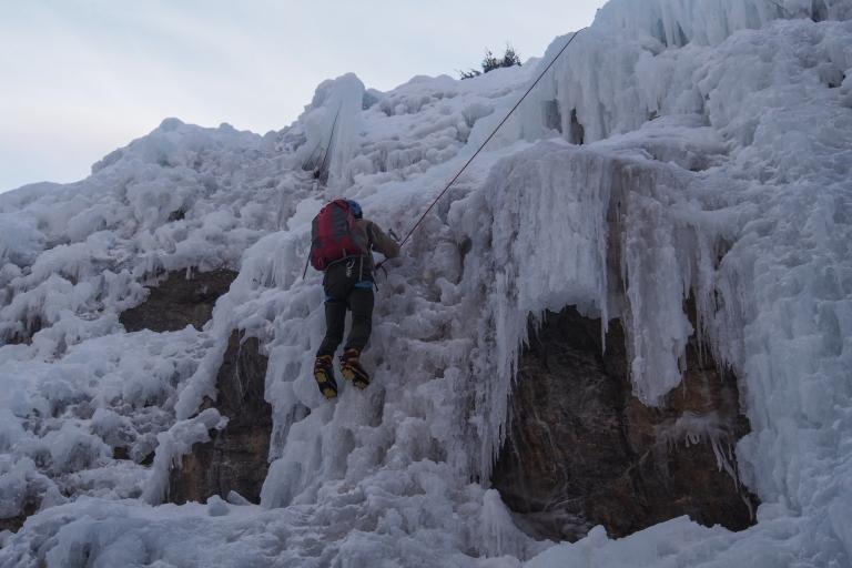 Niels climbing a steppy line.