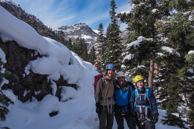 Ouray Ice Park with my two sons, 23 and 15 years old.