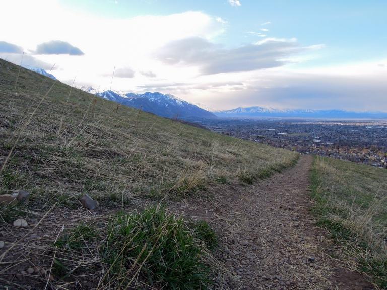 The foothills above Orem, UT, Bonneville Shoreline Trail. (March 25, 2016)