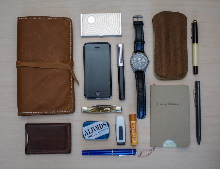 Some of my everyday carry items, either on my person, or in my bag. (March 28, 2016)