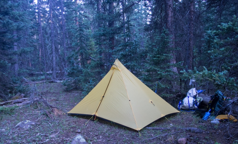 Camp along Bluebell Creek