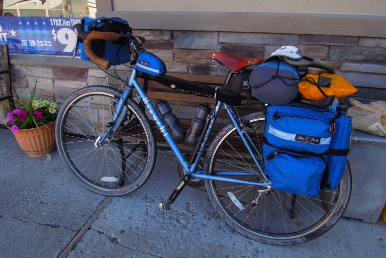 My Bianchi Volpe with Lone Peak packs.