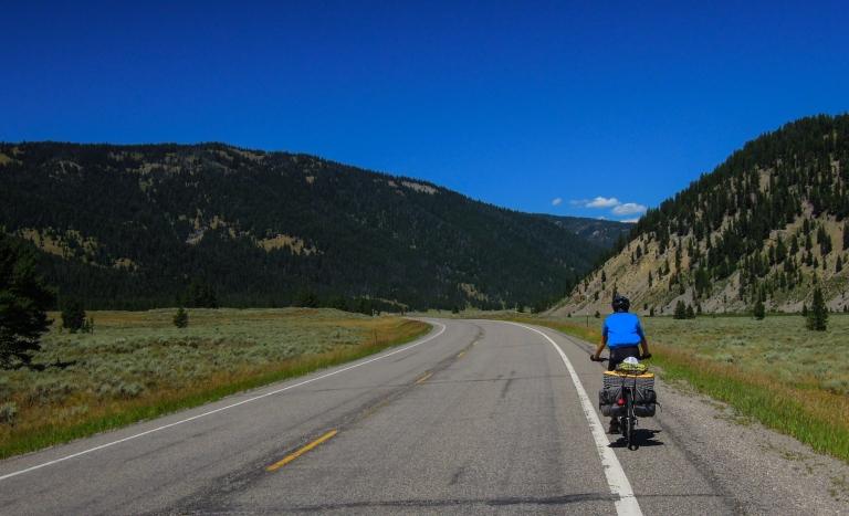Riding through the Gallatin River valley.