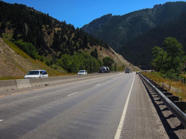 A short ride on I-90 outside Bozeman.