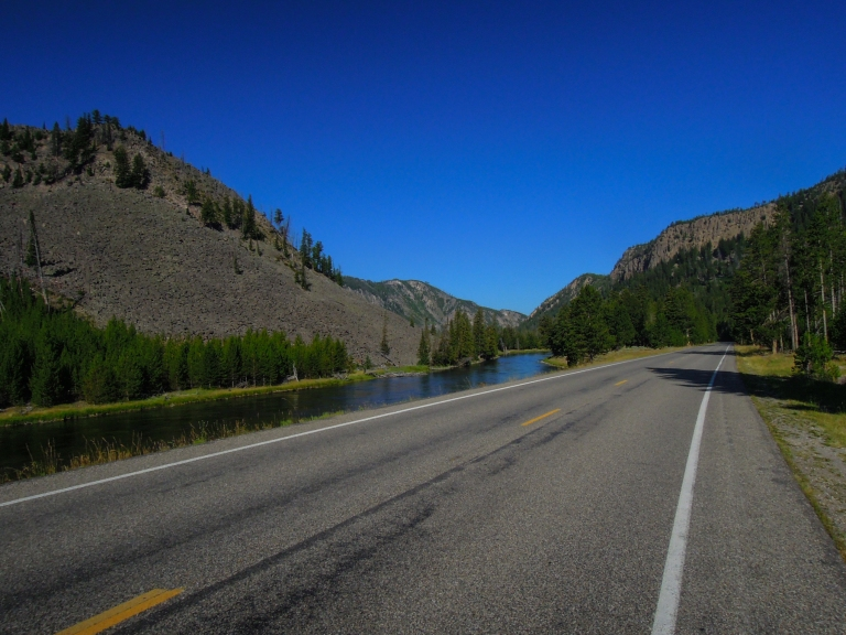 Riding along the Madison River