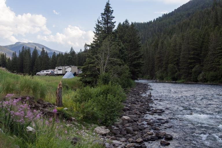 Moose Creek Flat Campground.